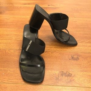 GUCCI Vintage Black Strappy Sandals High Heels